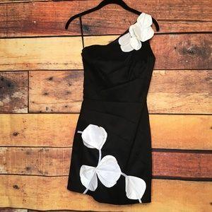 Jessica McClintock One Shoulder Strap Dress